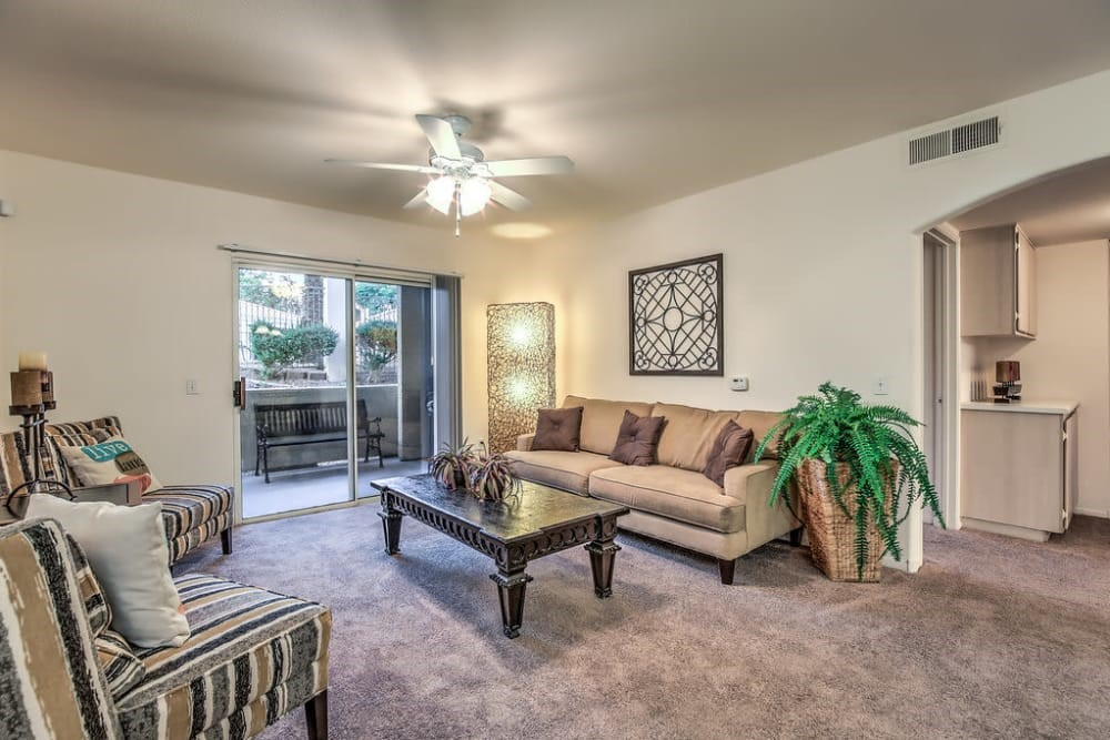 A living room example at Avion at Sunrise Mountain